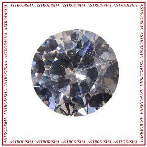 white zircon stone